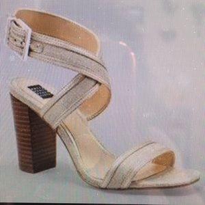 White House Black Market Parker Ankle Strap Heels